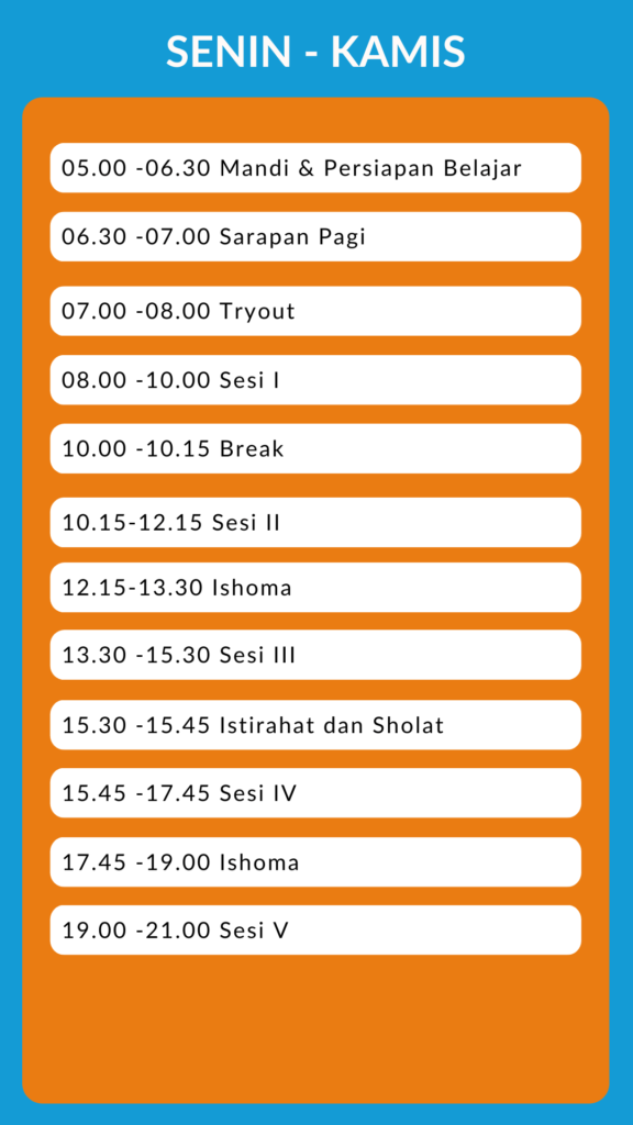 time table supercamp