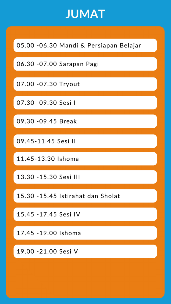 time table supercamp 2