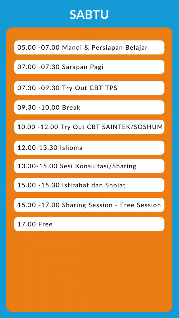 time table supercamp 3